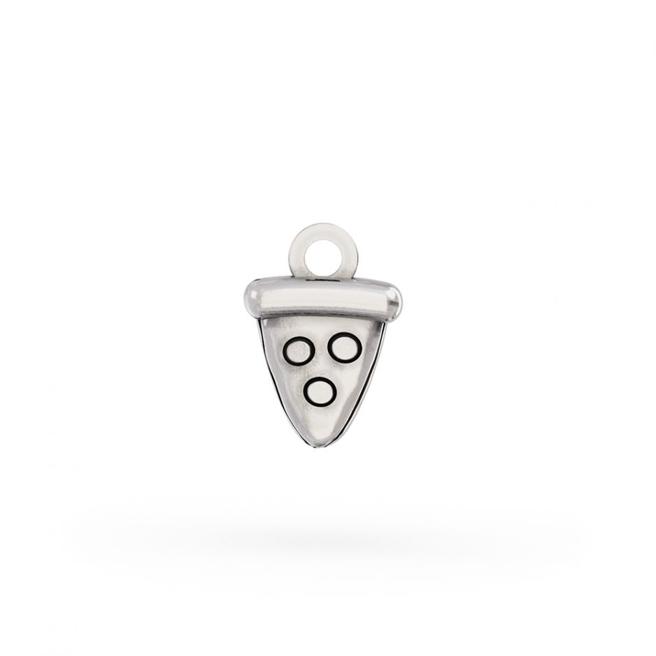 Pusheen Sterling Silver Pizza Slice Charm