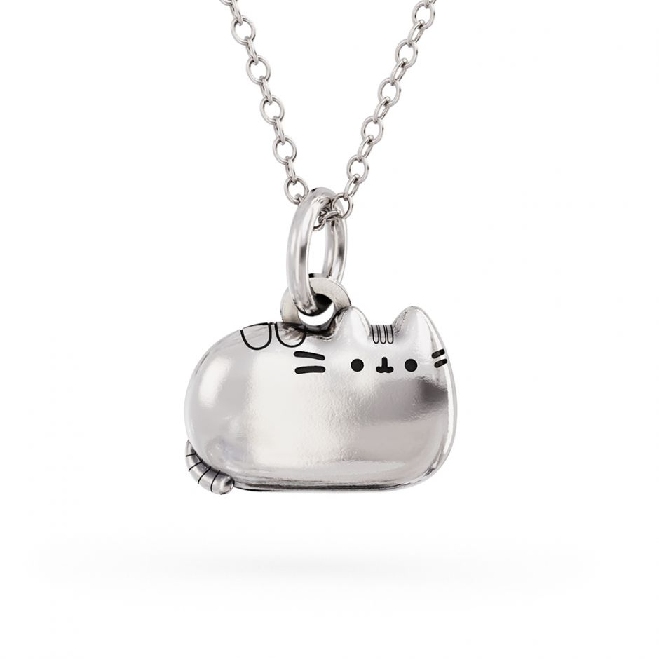 Pusheen Sterling Silver Sitting Cat Charm Necklace
