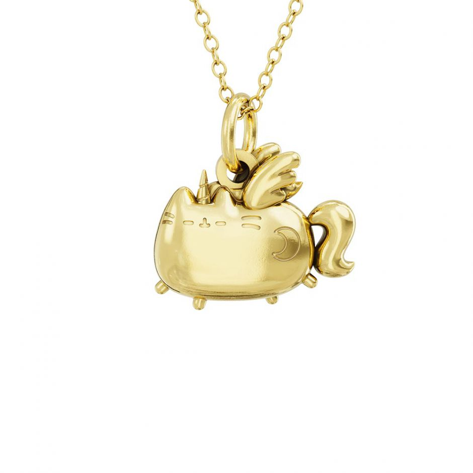 Super Pusheenicorn 18ct Gold Vermeil Charm Necklace