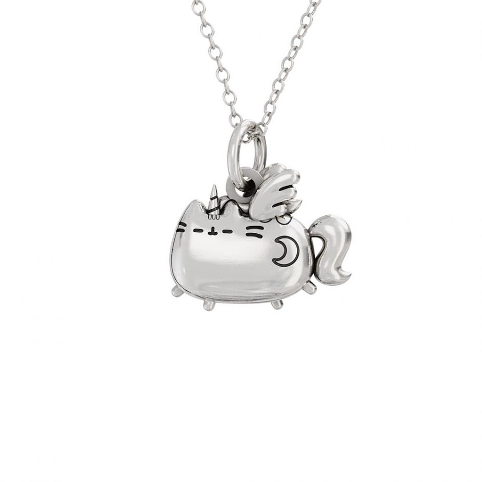 Super Pusheenicorn Sterling Silver Charm Necklace