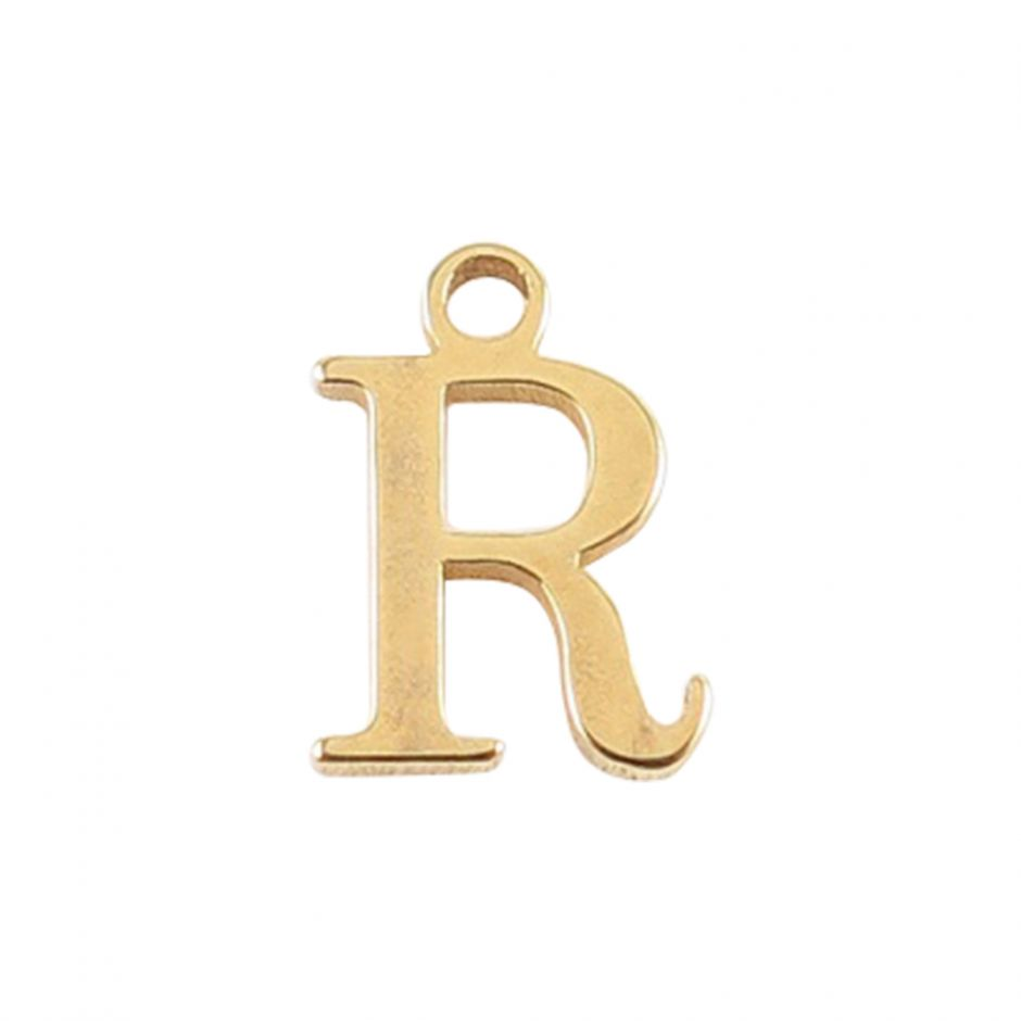 Gold Vermeil Mini Alphabet Charm - R
