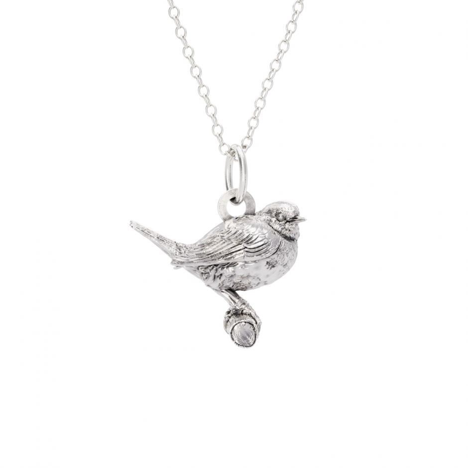 Licensed to Charm - Sterling Silver Robin Necklace Set