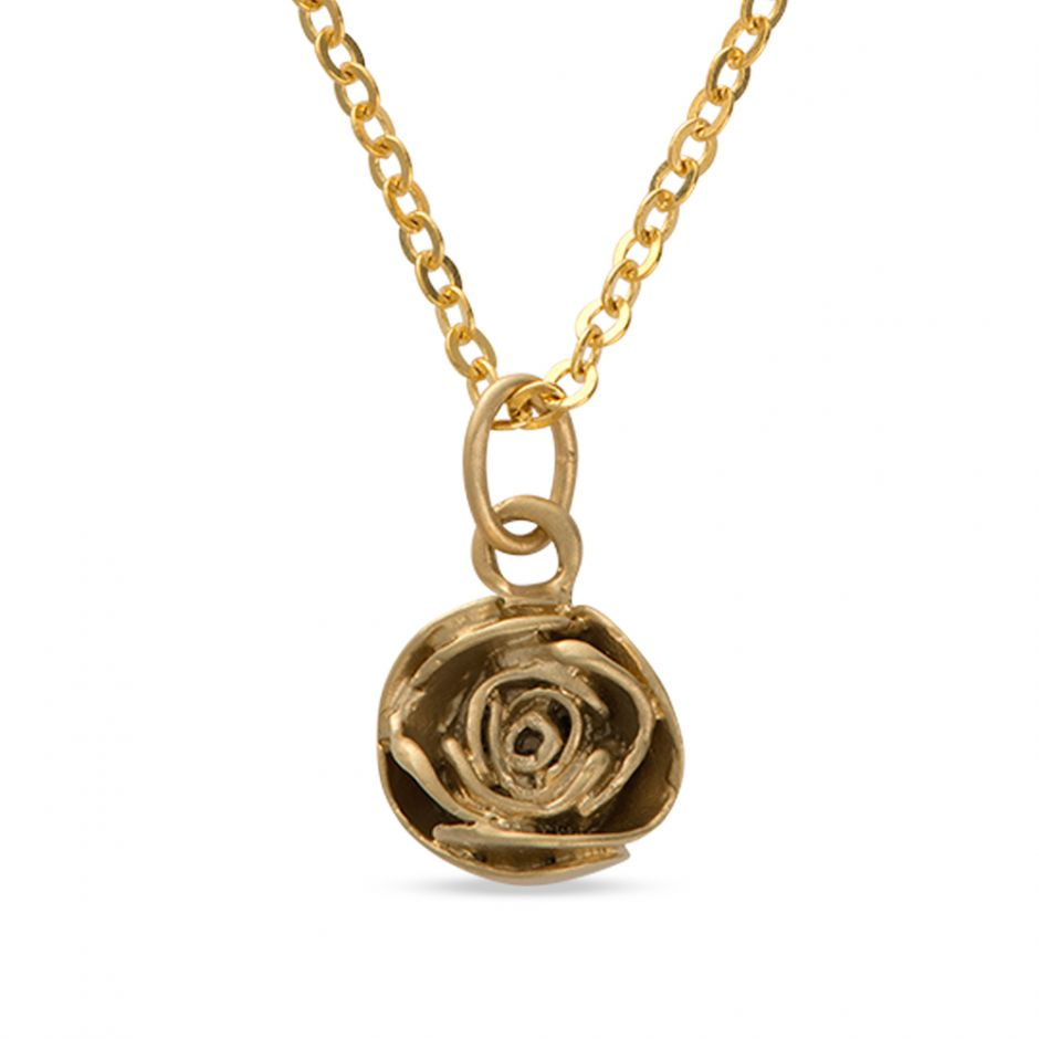 Licensed to Charm - Gold Vermeil Rose Necklace Set