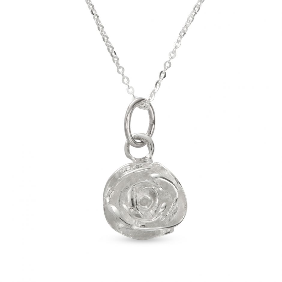 Licensed to Charm - Sterling Silver Rose Necklace Set
