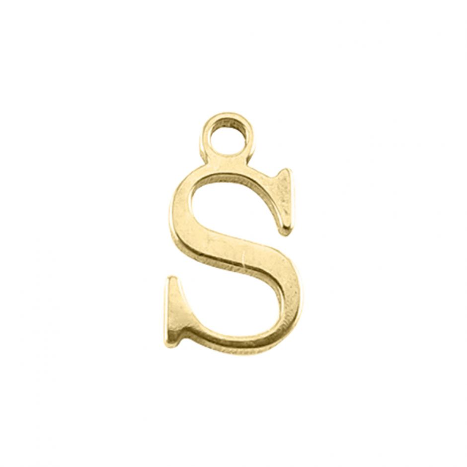 Gold Vermeil Mini Alphabet Charm - S