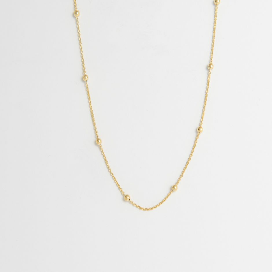Satellite Chain necklace 18ct gold vermeil
