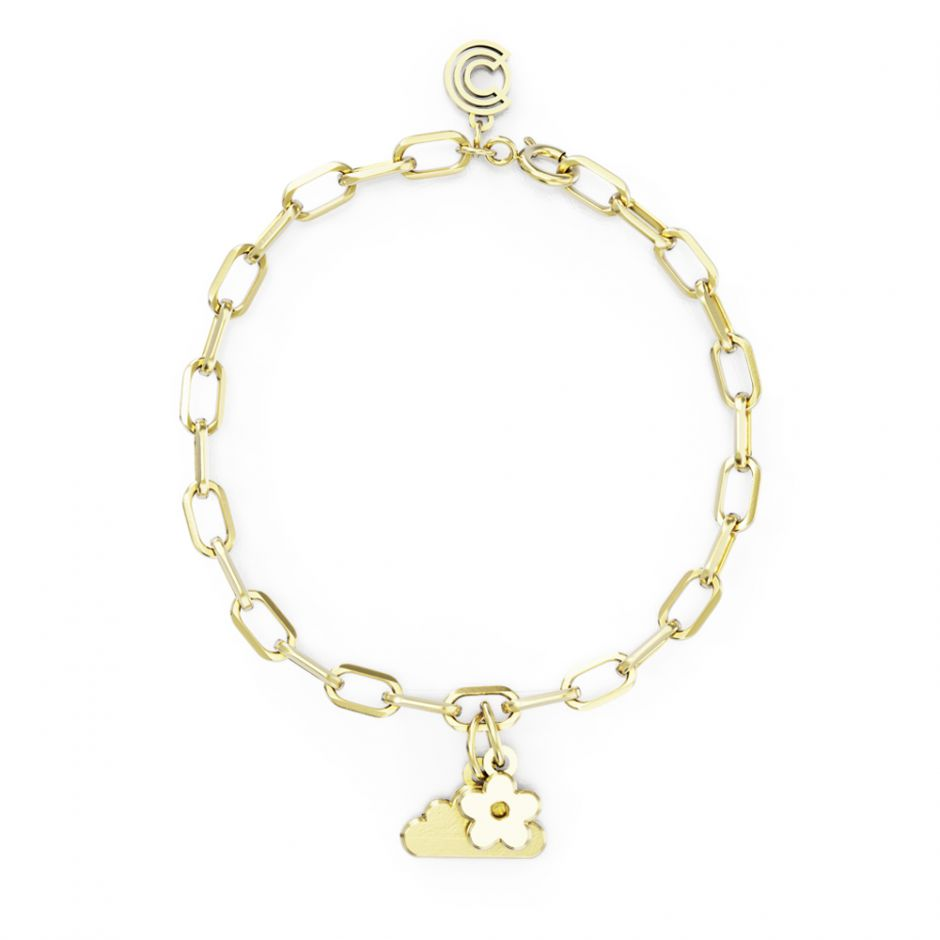 Shaun The Sheep - Gold Vermeil Double Icon Charm Bracelet