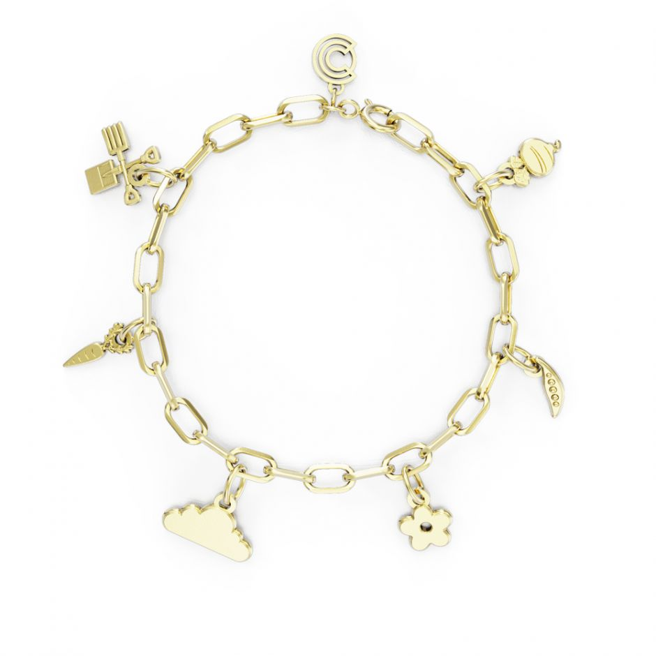 Shaun The Sheep - Gold Vermeil Complete Icon Charm Bracelet