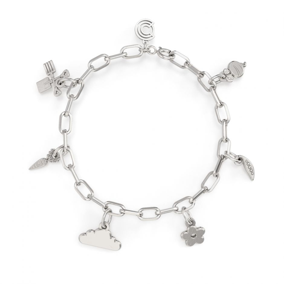 Shaun The Sheep - Sterling Silver Complete Icon Charm Bracelet