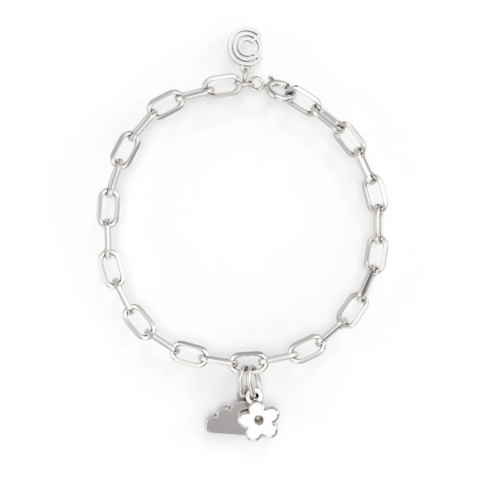 Shaun The Sheep - Sterling Silver Double Icon Charm Bracelet