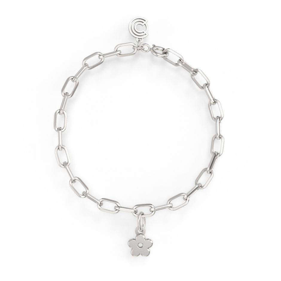Shaun The Sheep - Sterling Silver Single Icon Charm Bracelet