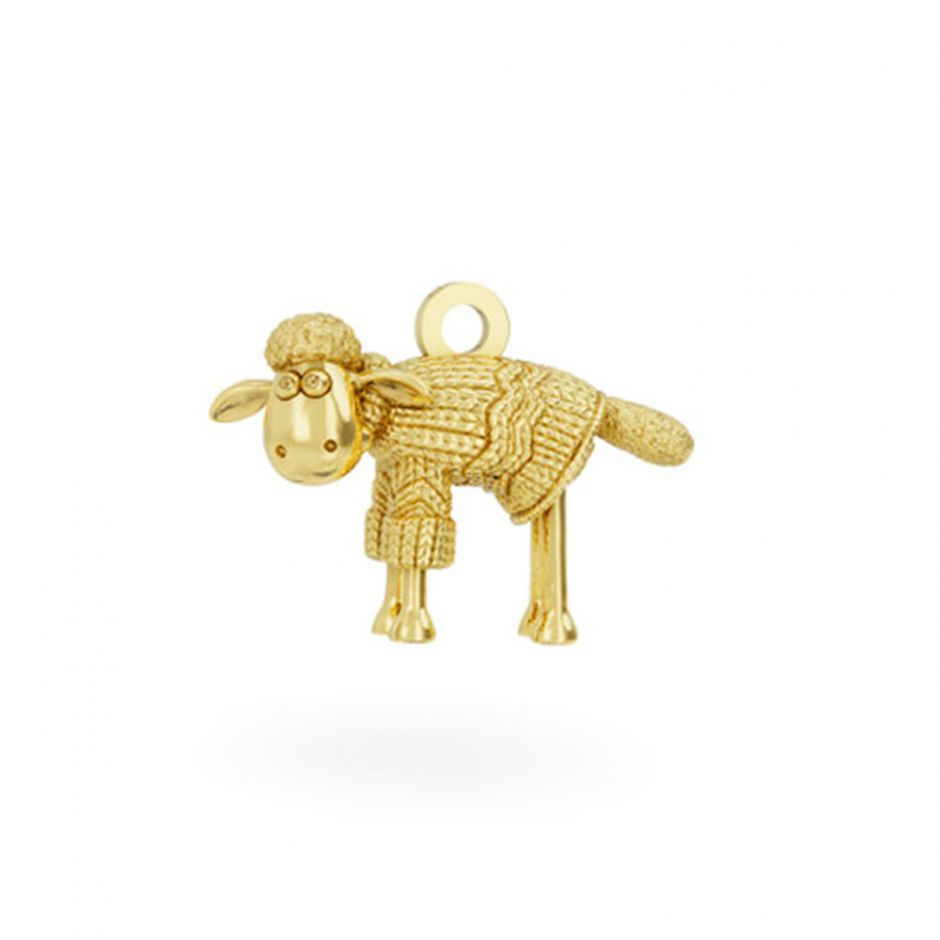 18ct Gold Vermeil Shaun in a Jumper Charm