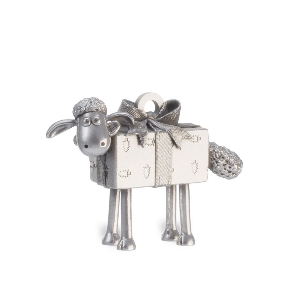 Sterling Silver Shaun The Sheep Present Charm