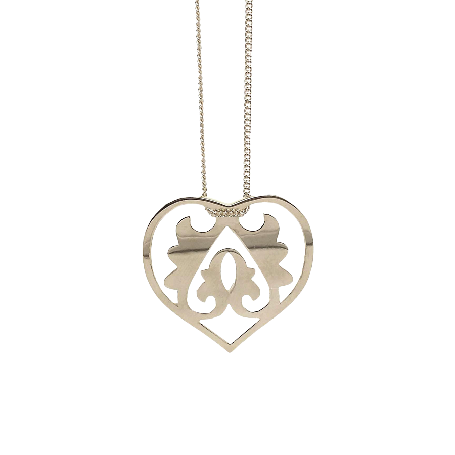 Silver Ace Of Hearts Necklace