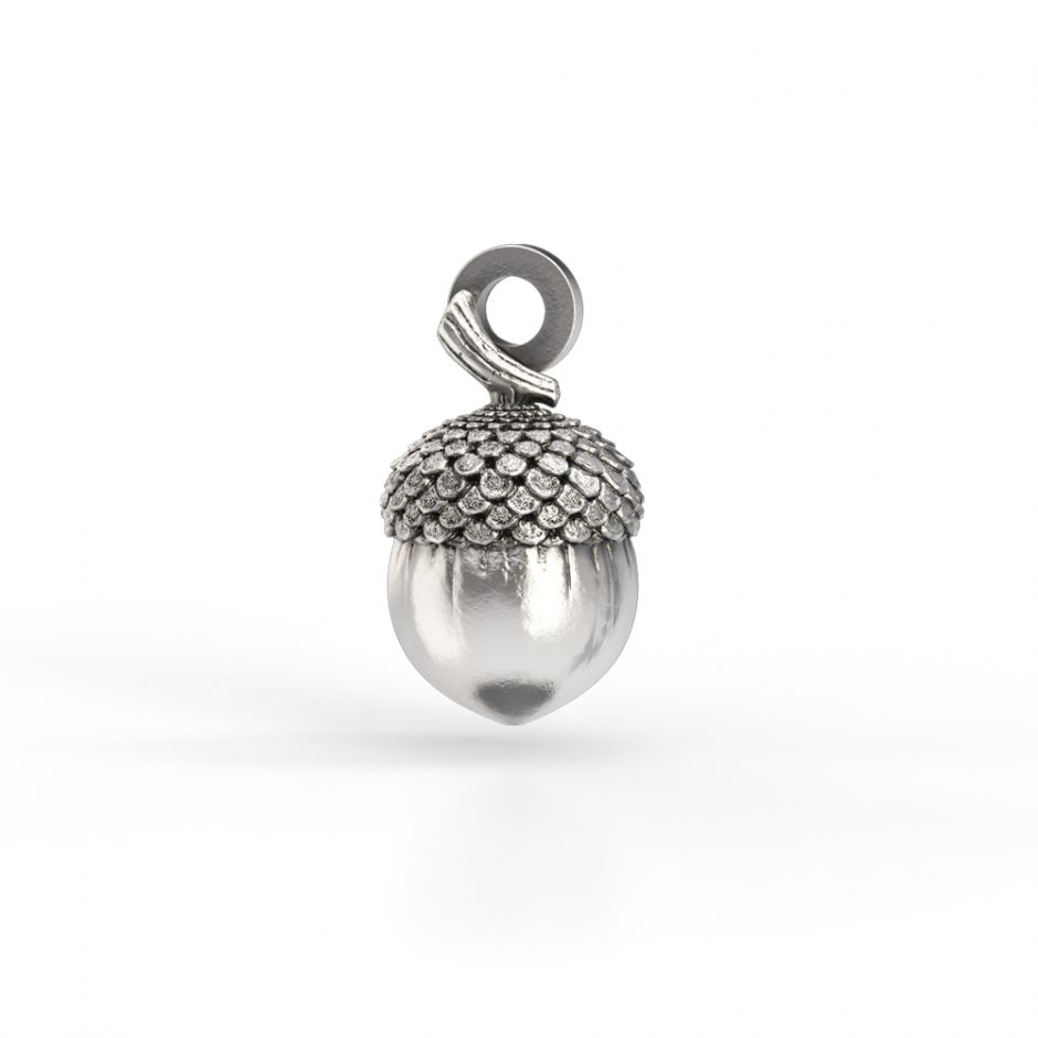 Watership Down - Sterling Silver Acorn Charm