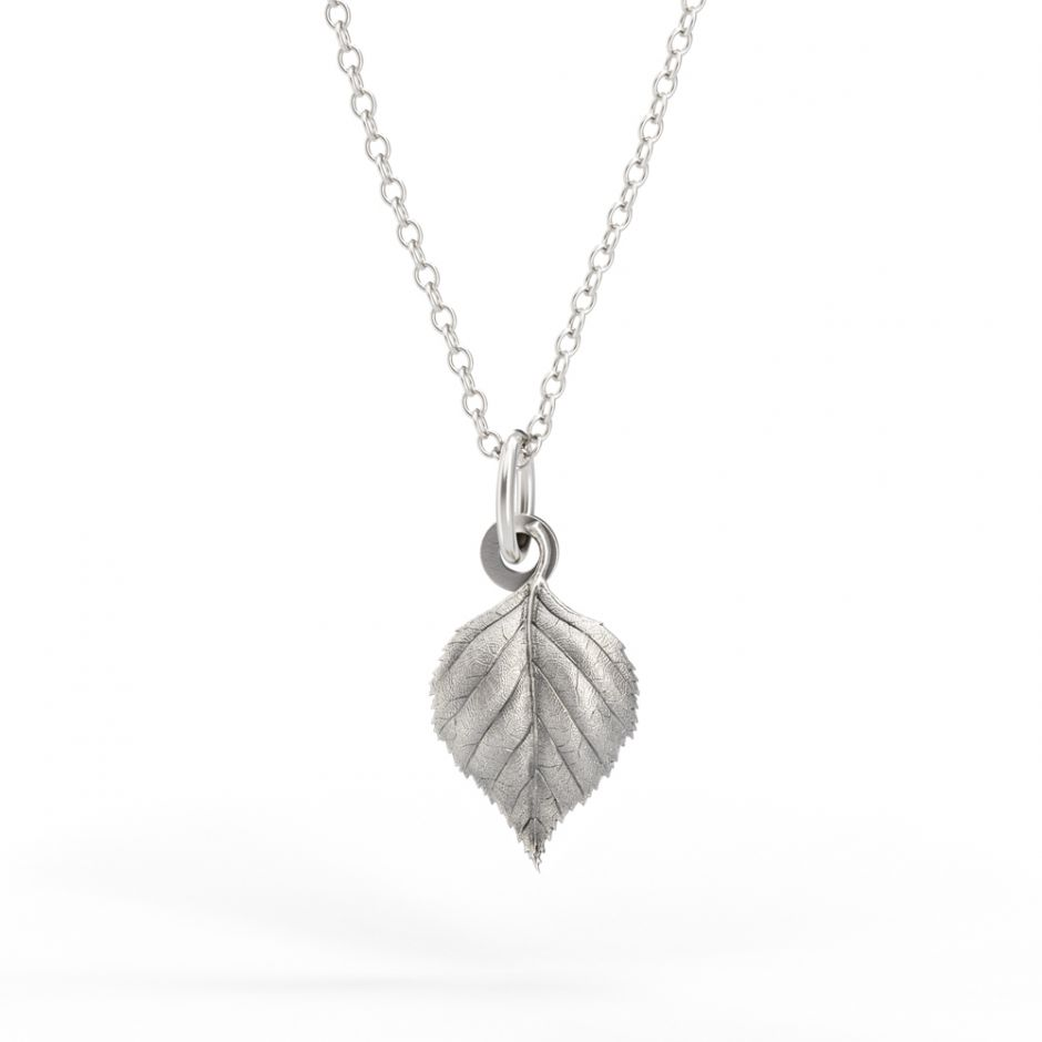 Watership Down - Sterling Silver Birch Leaf Necklace Set