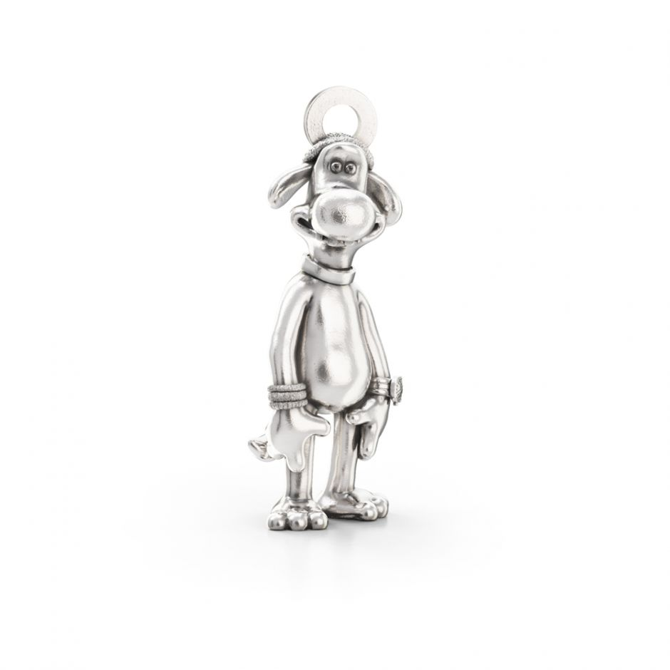 Shaun The Sheep - Sterling Silver Bitzer The Sheepdog Charm