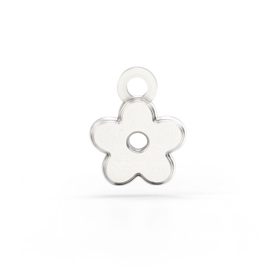 Shaun The Sheep - Sterling Silver Flower Charm