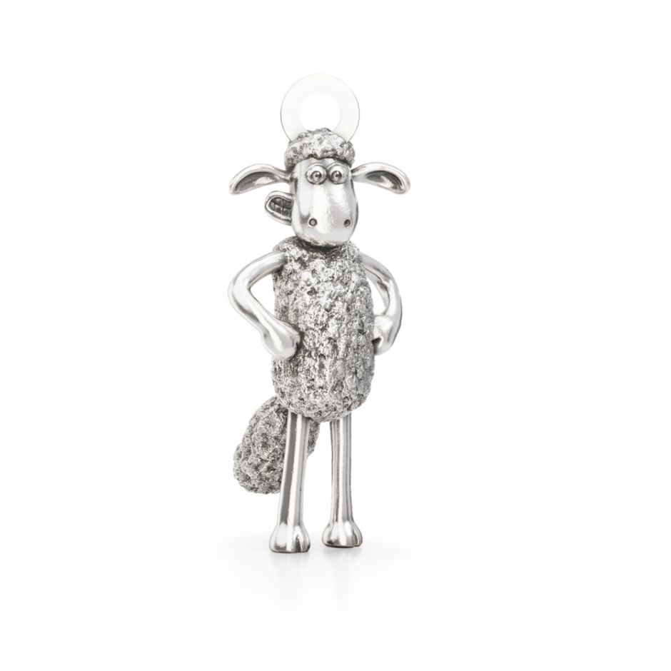 Shaun The Sheep - Sterling Silver Standing Shaun Charm