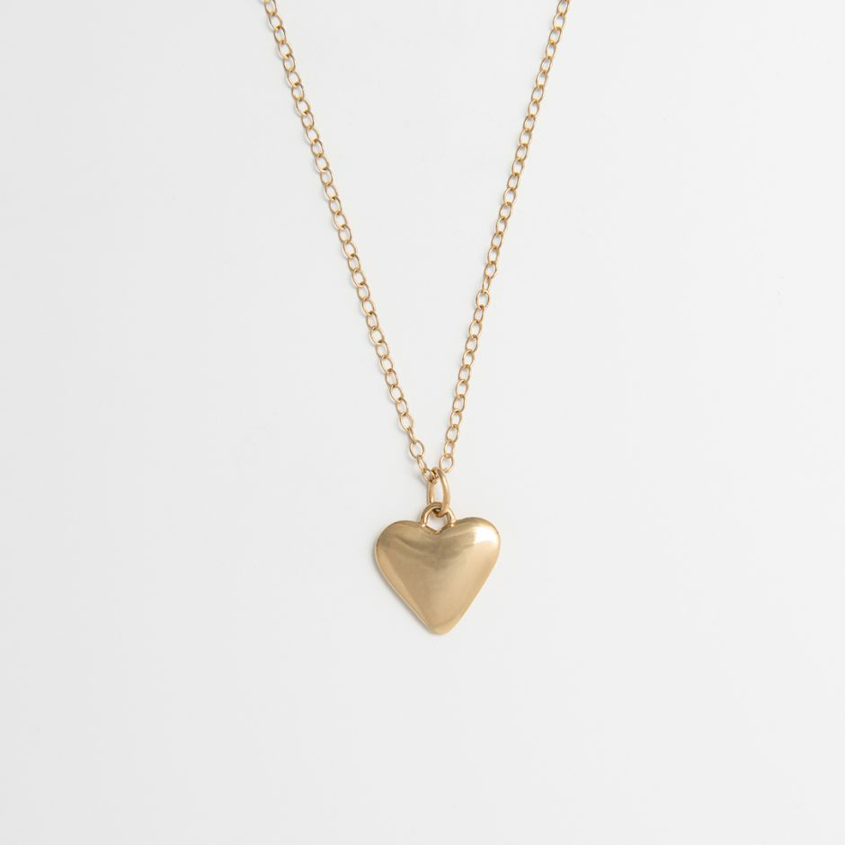 Heart-Shaped Necklace 18ct Gold Vermeil