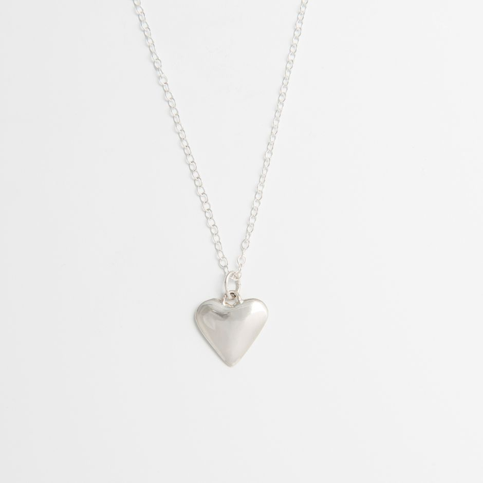 Heart-Shaped Necklace Sterling Silver