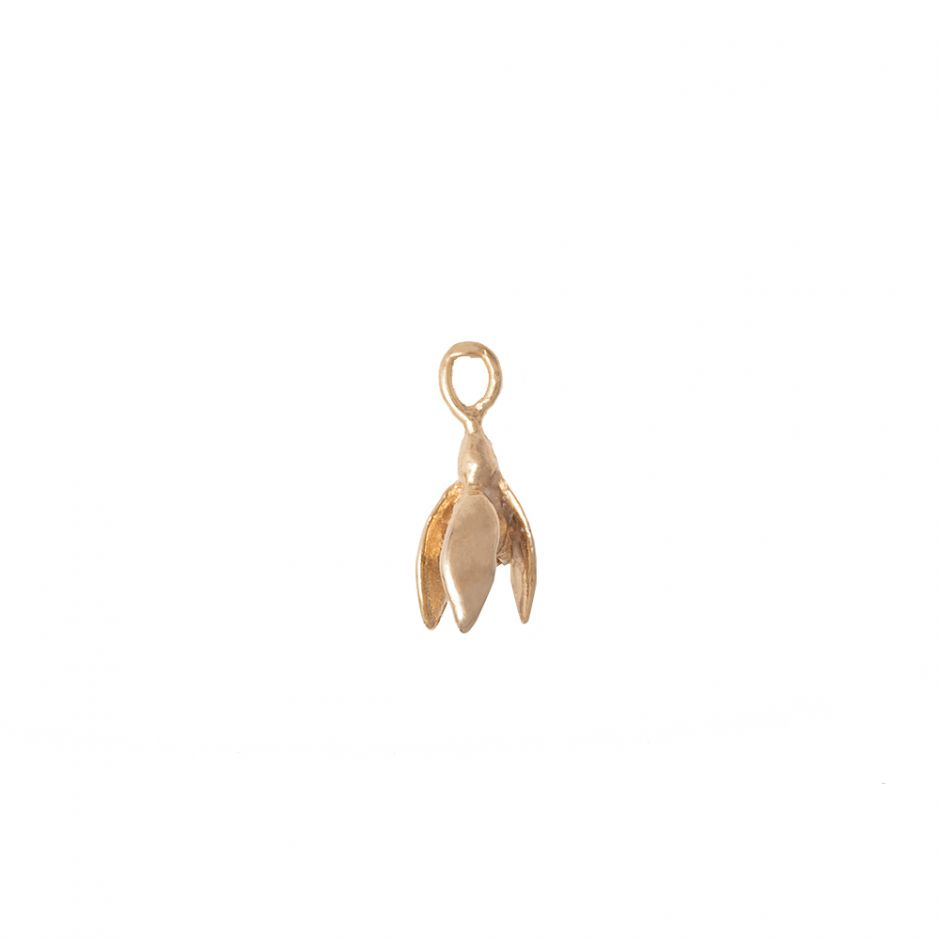 Snow Drop Charm 18ct Gold Vermeil