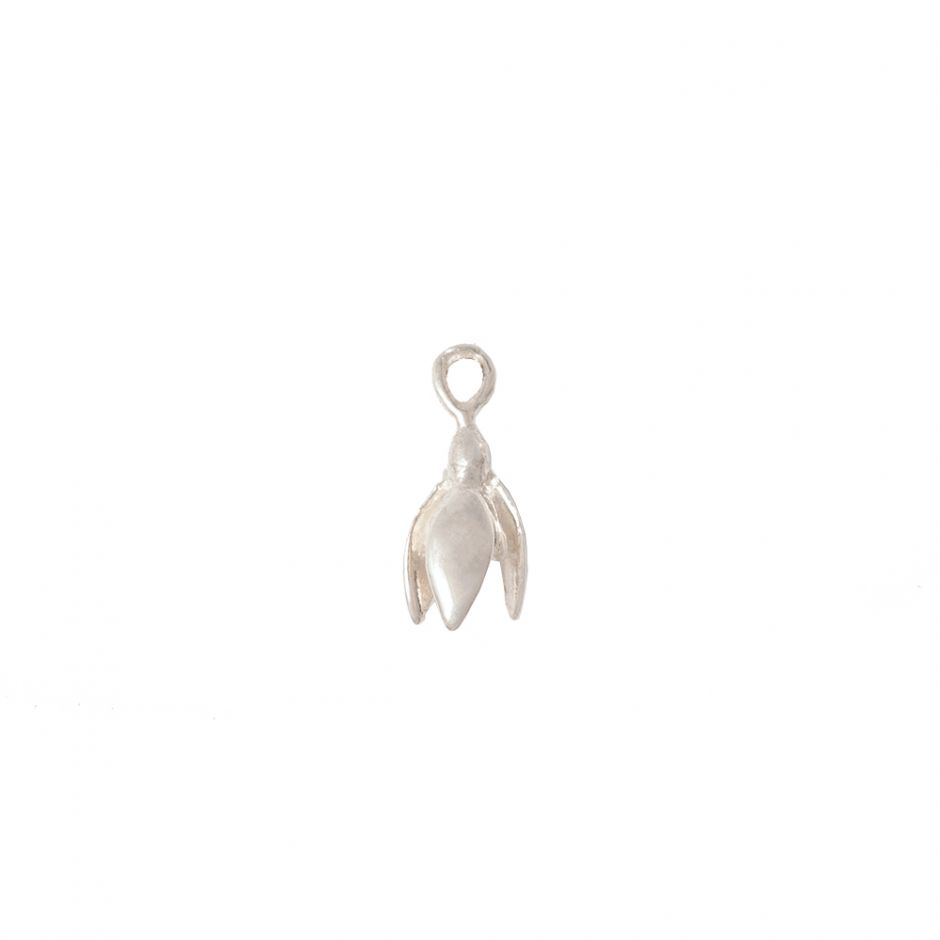 Snowdrop Charm Sterling Silver