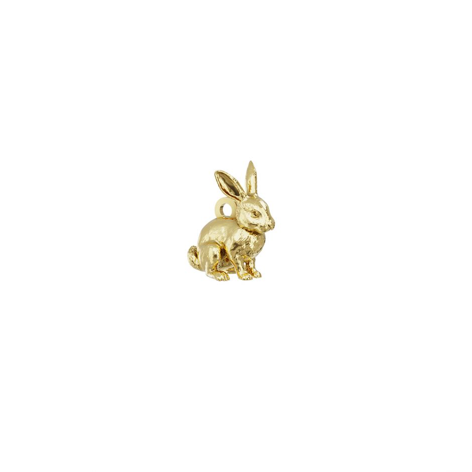 Rabbit Charm 18ct Gold Vermeil