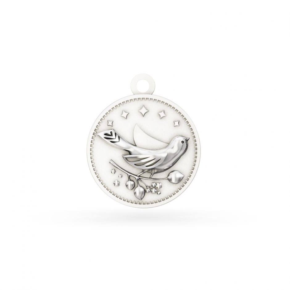 Licensed to Charm - Sterling Silver Enchanted Animals Bird Charm