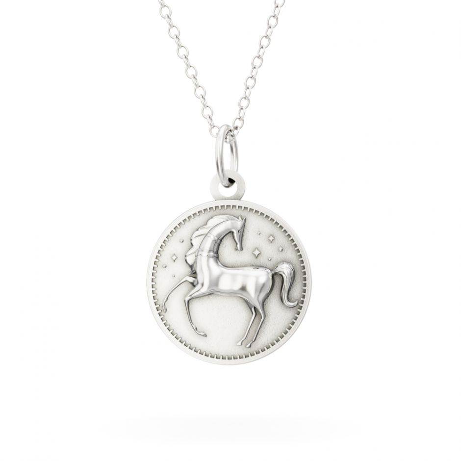 Licensed to Charm - Sterling Silver Enchanted Animals Horse Necklace Set