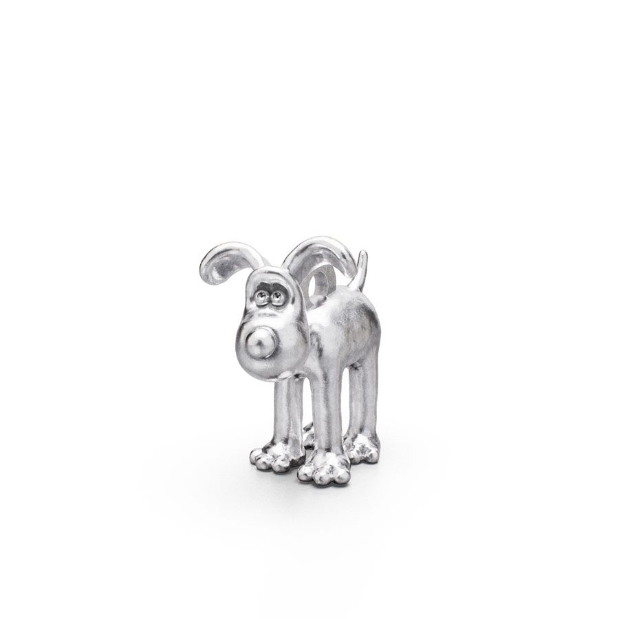 Sterling Silver Standing Gromit Charm