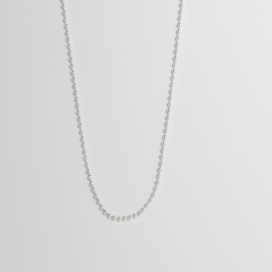 Ball Chain Necklace Sterling Silver