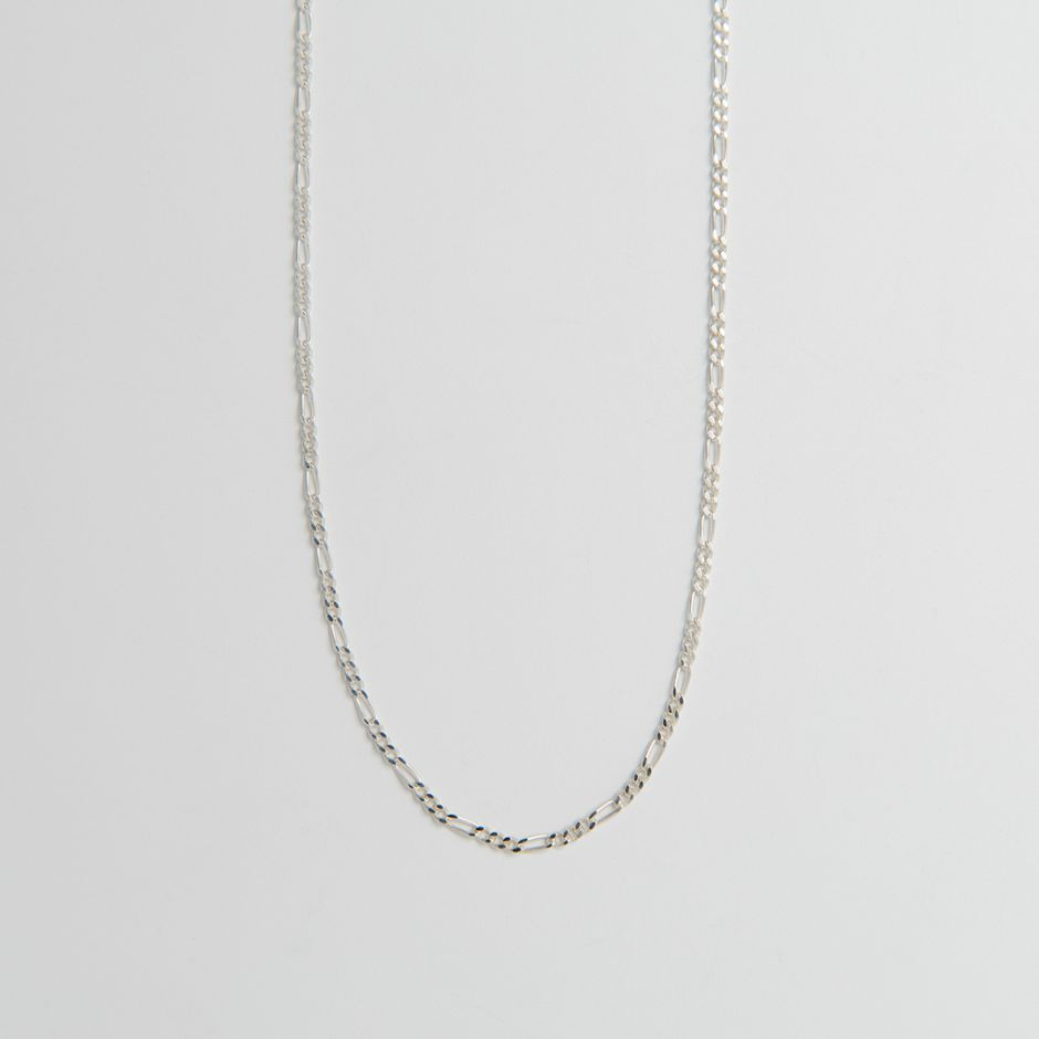 Sterling Silver Diamond Cut Figaro Chain
