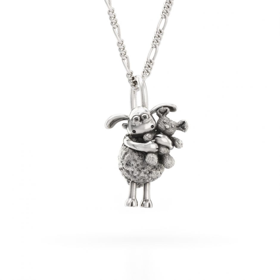 Shaun The Sheep - Sterling Silver Timmy & Teddy Necklace Set