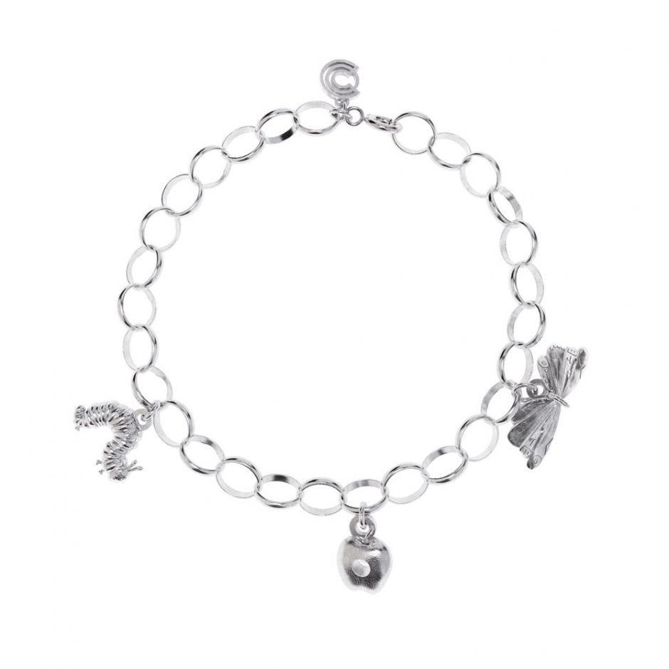Sterling Silver Very Hungry Caterpillar Triple Charm Bracelet Set