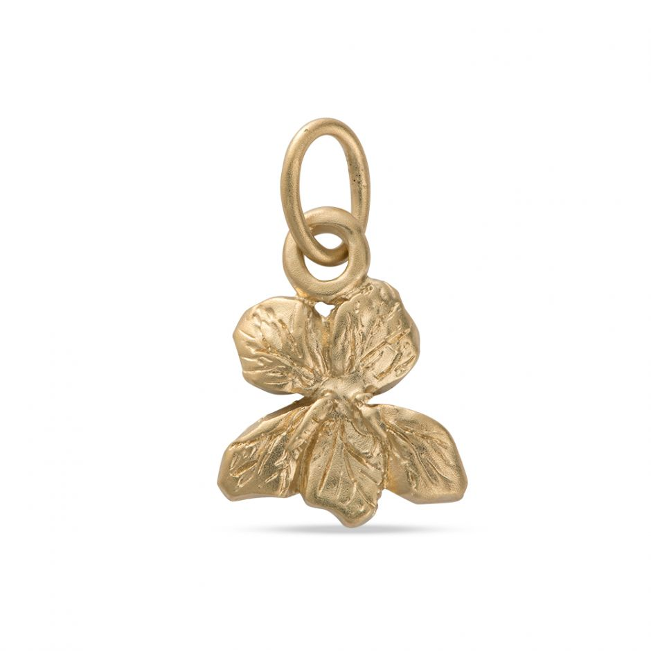 Licensed to Charm - Gold Vermeil Violet Charm