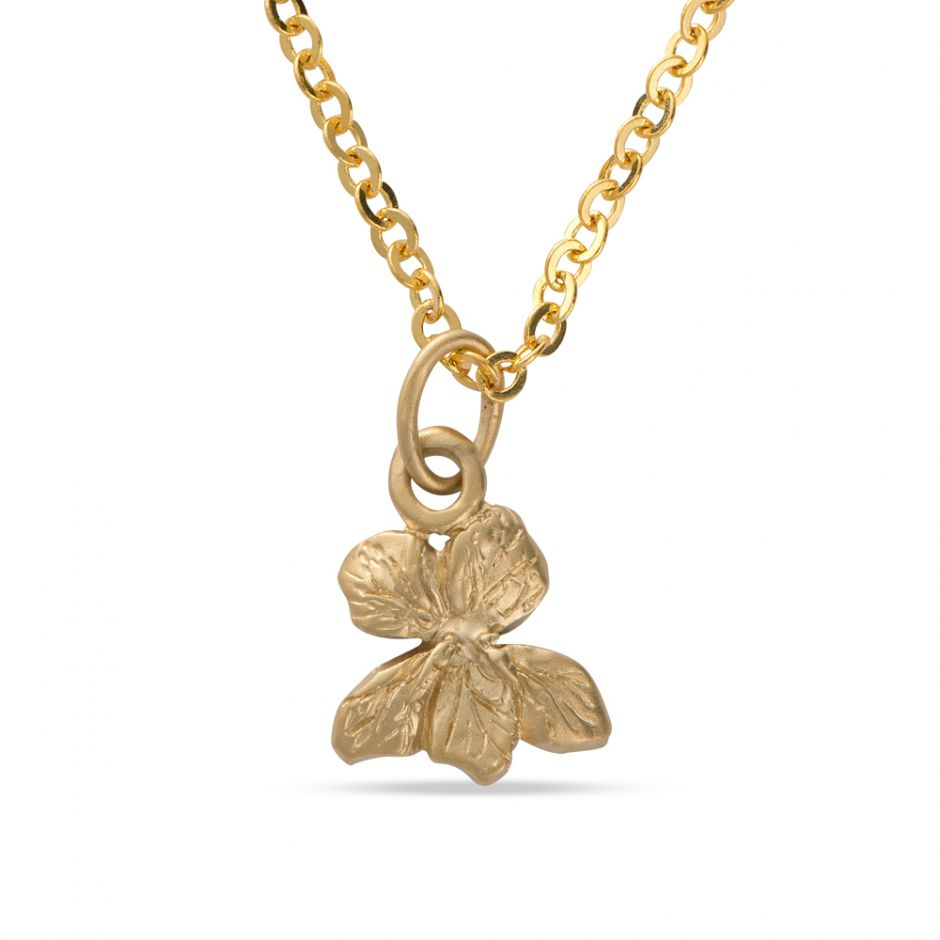 Licensed to Charm - Gold Vermeil Violet Necklace Set