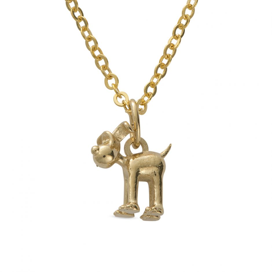 18ct Gold Vermeil Standing Gromit Necklace Set