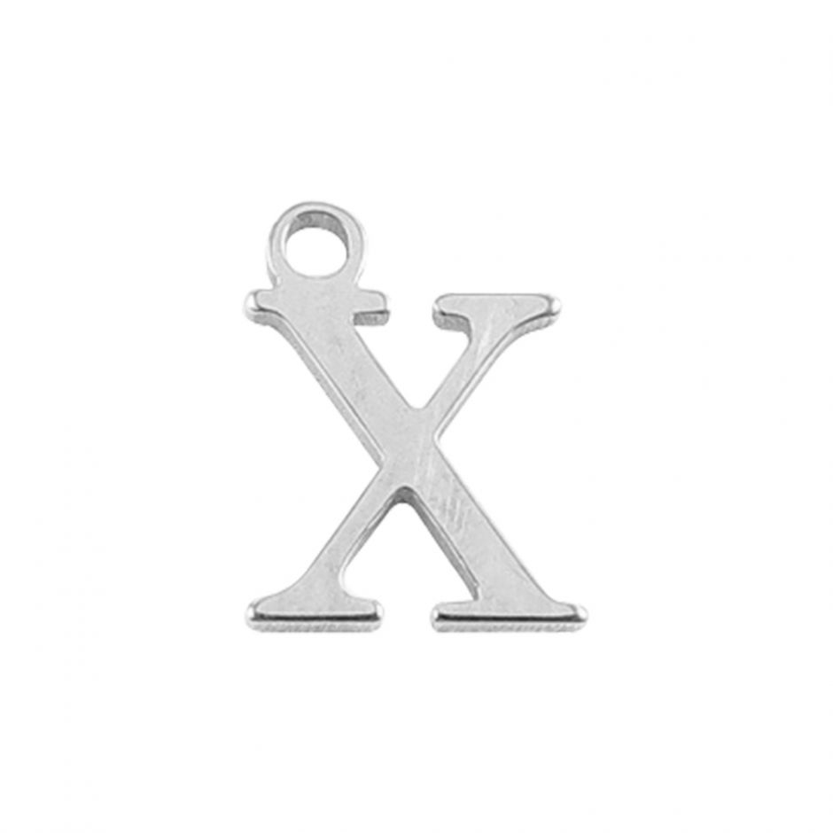 Sterling Silver Mini Alphabet Charm - X
