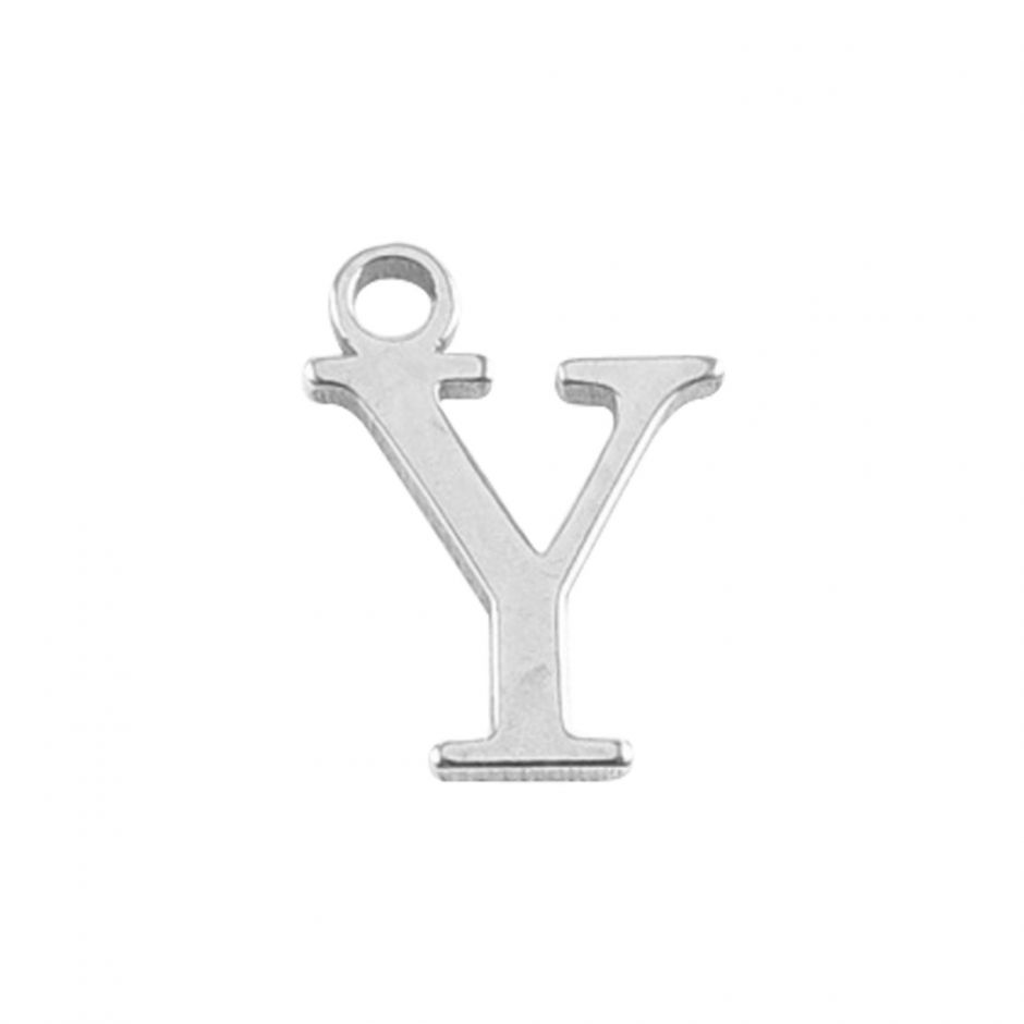 Sterling Silver Mini Alphabet Charm - Y