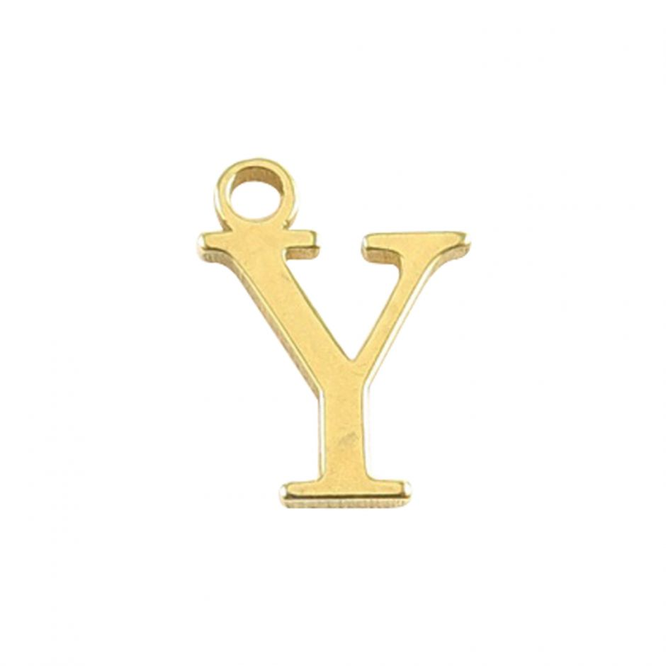 Gold Vermeil Mini Alphabet Charm - Y