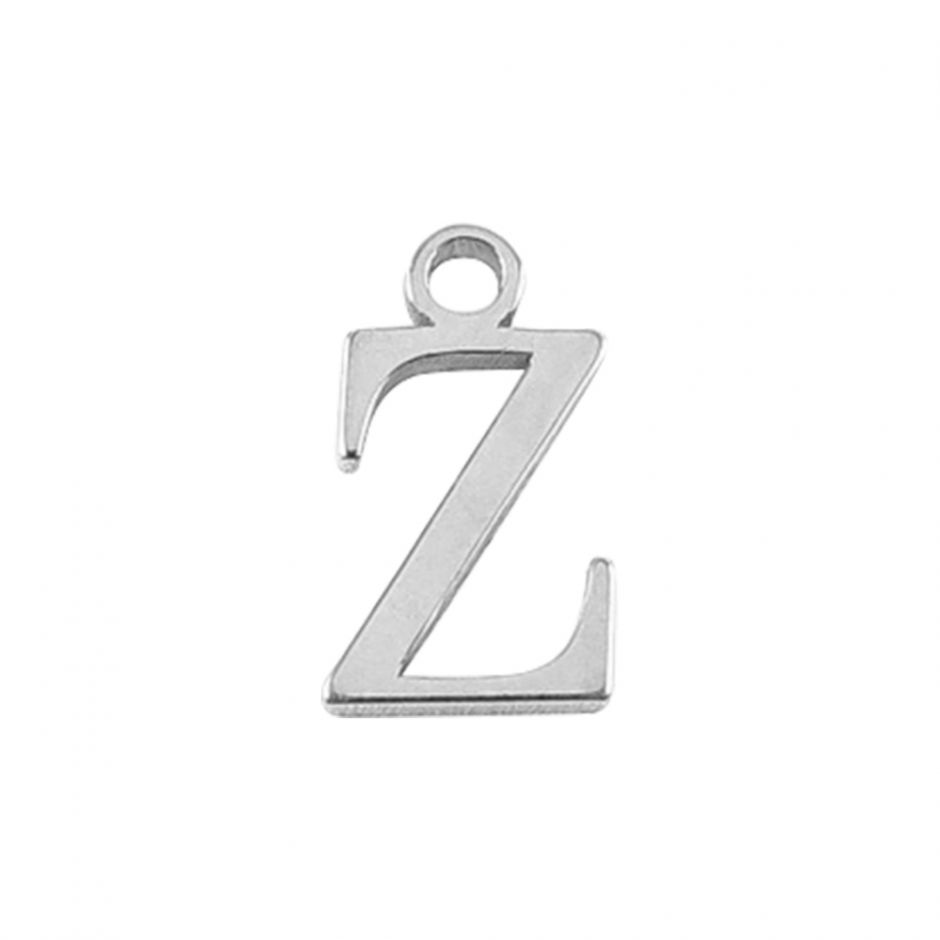 Sterling Silver Mini Alphabet Charm - Z