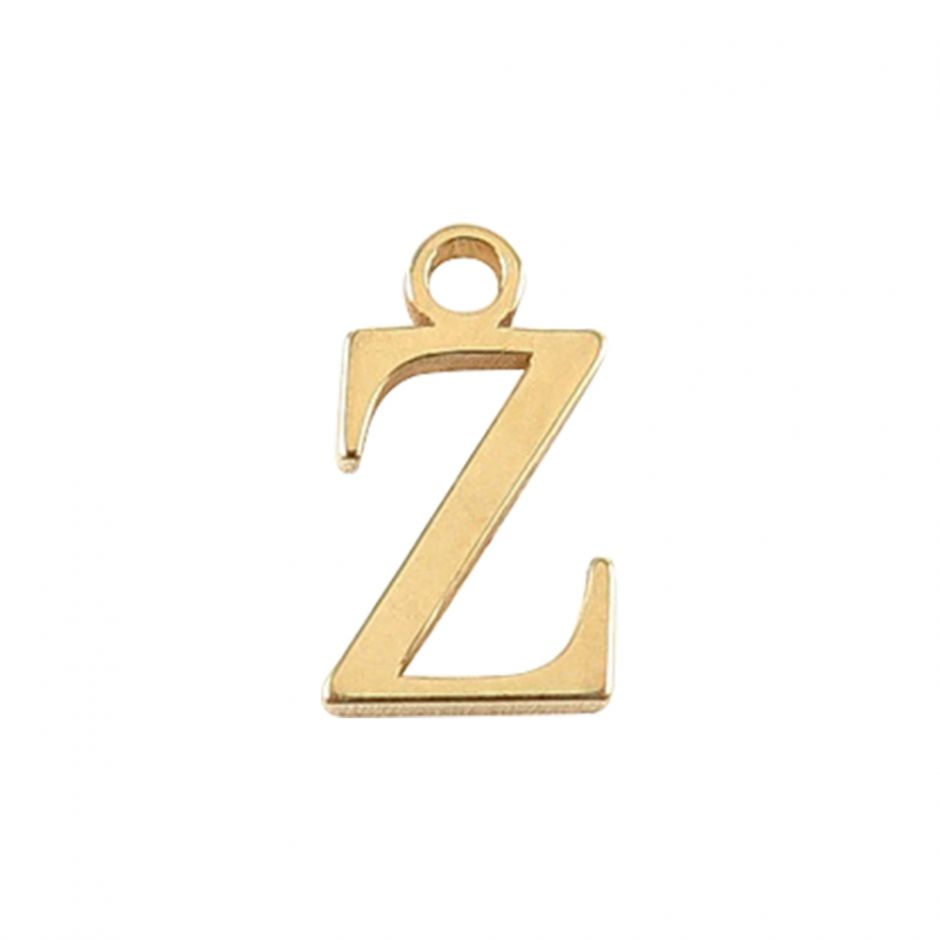 Gold Vermeil Mini Alphabet Charm - Z